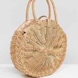 Asos Round Woven Straw Summer Beach Bag